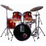 Beverley Venue Rock Drum Kit in Black or Wine Red