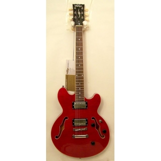Vintage AV3 Electric Semi Guitar in Cherry, Secondhand
