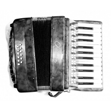 Chanson Piano Accordion 12 Bass in Black (7156BK)