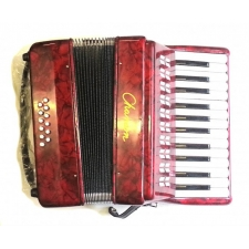 Chanson Piano Accordion 12 Bass in Red (7156RD)