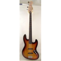 Squier Vintage Modified 4 String Fretless Jazz Bass In 3-Tone Sunburst, Secondhand