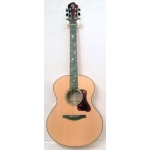 PJ Eggle Saluda, Small Jumbo Size Acoustic Guitar in Natural