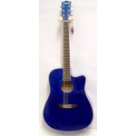 Levin LD60CE Electro Acoustic Guitar in Transparent Blue