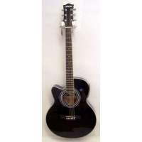 Levin LS500LCE Left Handed Electro Acoustic Guitar in Black