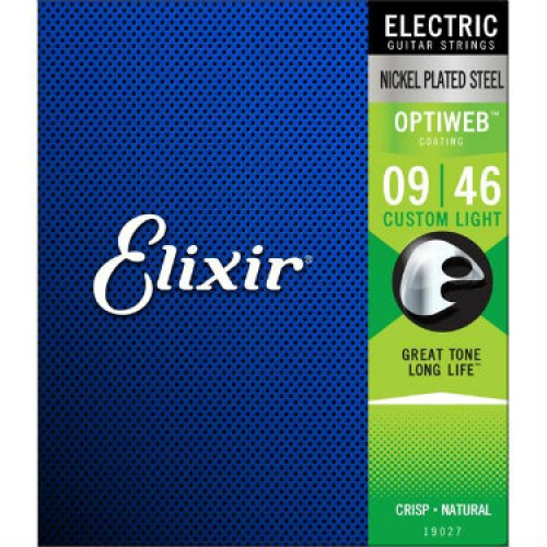 3 Sets of Elixir Optiweb Electric Guitar Strings 19027 9-46