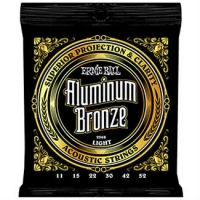3 Sets of Ernie Ball Aluminium Bronze 2568 Acoustic Guitar Strings 11-52