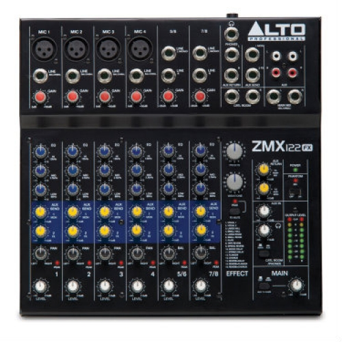 Alto Zephyr ZMX122FX - 8 Channel Mixer With Effects