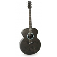 RainSong BI-JM1000N2 Black Ice Graphite Jumbo Electro Acoustic Guitar