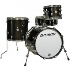 Ludwig 4 piece Questlove Breakbeats Shell Pack in White Sparkle
