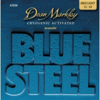 3 Sets of Dean Markley 2036 Blue Steel Acoustic Guitar Strings 12-54
