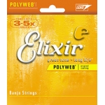 3 Sets of Elixir 11650 Polyweb Banjo Strings 10-23