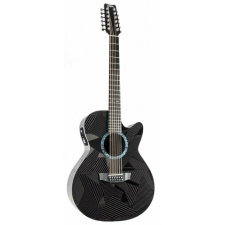 RainSong BI-WS3000 Black Ice 12-String Acoustic-Electric Guitar With Case