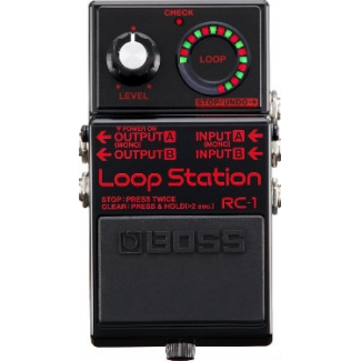 Boss RC1 BK Loop Station Effects Pedal, Limited Edition, Black