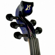 Bridge Lyra 5-String Electric Violin In Blue With Carbon Bow & Hard Oblong Case