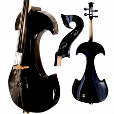 Bridge Draco Electric Cello In Black With Hard Case