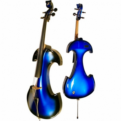 Bridge Draco Electric Cello In Blue With Hard Case