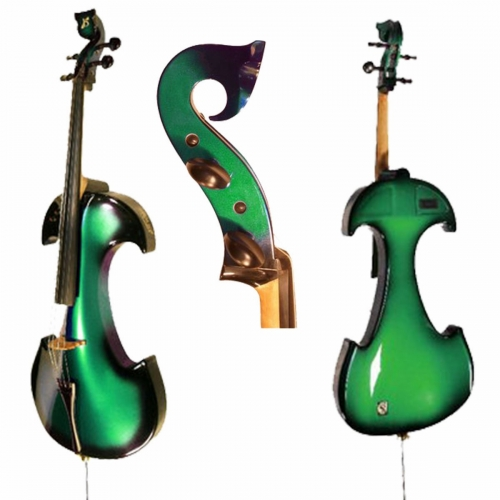 Bridge Draco Electric Cello In Green With Hard Case