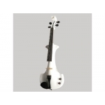 Bridge Aquila Electric Violin in White with Hard Case & Carbon Fibre Bow