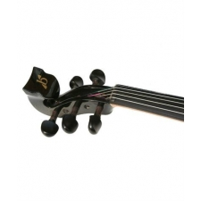 Bridge Lyra 5-String Electric Violin In Black With Fibre Bow & Hard Oblong Case
