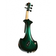 Bridge Lyra 5-String Electric Violin In Green With Fibre Bow & Hard Oblong Case