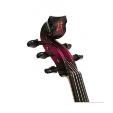Bridge Lyra 5-String Electric Violin In Purple With Fibre Bow & Hard Oblong Case