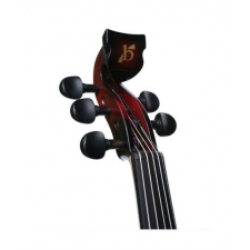 Bridge Lyra 5-String Electric Violin In Red With Carbon Bow & Hard Oblong Case