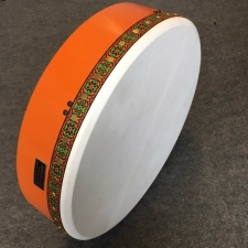 "Bridget 18"" Tuneable Bodhran in Copper Orange"