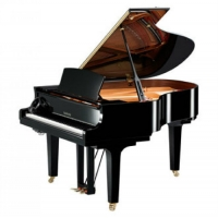 Yamaha C2X-SH Silent Grand Piano in Polished Ebony with Chrome Fittings