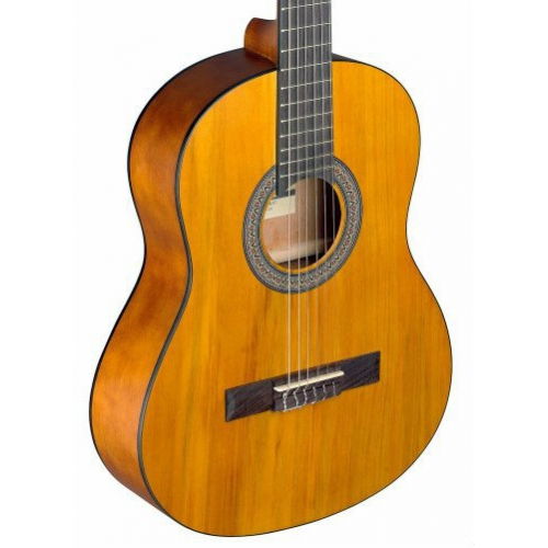 Stagg C430M 3/4 Size Nylon Strung Classical Guitar In Matt Natural With Bag