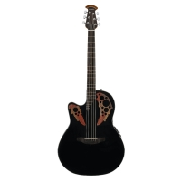 Ovation CE44L-5 Celebrity Elite LH Mid-Depth Cutaway Electro In Black - Left Hand