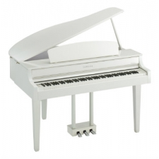 Yamaha CLP665GP Digital Grand Piano in Polished White