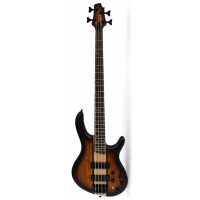 Cort C4 Plus Artisan 4 String Bass, Open Pore Tobacco