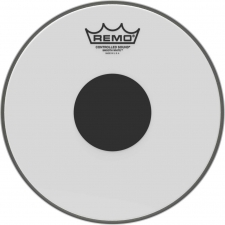"Remo CS 10"" Smooth White Batter Top Head with Black Dot (CS021010)"
