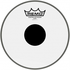 "Remo Pinstripe 8"" Clear Black Dot Batter Top Head (PS030810)"