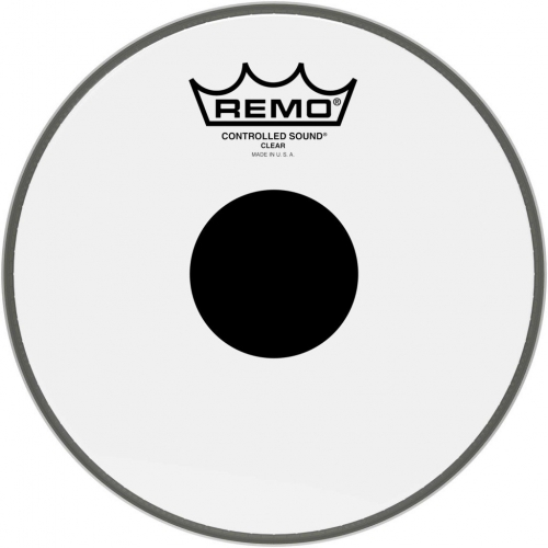 """Remo Pinstripe 8"""" Clear Black Dot Batter Top Head (PS030810)"""