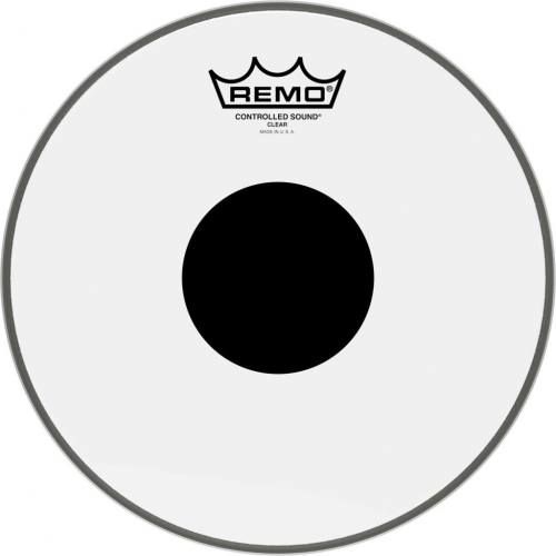 """Remo Controlled Sound 10"""" Black Dot Clear Batter Top Head (CS031010)"""