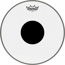 """Remo Controlled Sound 13"""" Clear Batter Black Dot Top (CS031310)"""