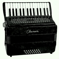 Chanson 24 Bass Accordion, Black