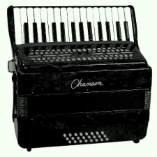Chanson 24 Bass Accordion, Black, Ex-Demo