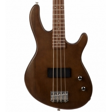 Cort Action Junior 4-String Short-scale Bass Guitar In Open Pore Walnut