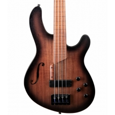 Cort B4FL MHPZ 4-String Lined Fretless Bass with Chambered Mahogany Body