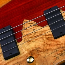 Cort Rithimic 4 Jeff Berlin 4-String Bass with Spalted Maple & Padouk Top