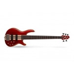 Cort A5 Plus FMMH 5 String Bass Guitar, Black Cherry