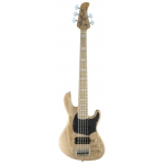 Cort GB75 5 String Bass, Open Pore Natural