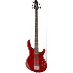 Cort  Action Bass V Plus TR 5-String Bass, Trans Red