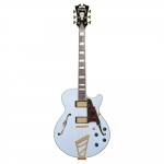 D'angelico Deluxe SS with Stairstep Tailpiece, Matte Powder Blue