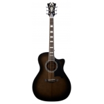 D'Angelico Premier Gramercy Grand Auditorium Electro Acoustic in Grey-Black