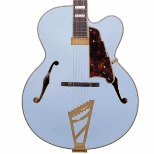 D'Angelico Deluxe EXL1, Matte Powder Blue