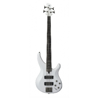 Yamaha TRBX304 4 String Bass, White