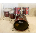 PEARL MLX 'Prestige Custom' 5 pc Shell Pack in Bordeaux Red